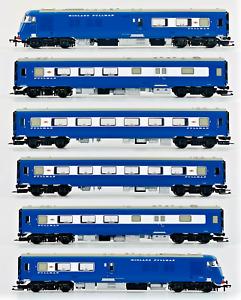 BACHMANN 00 GAUGE - 31-255DC - MIDLAND PULLMAN 6 CAR NANKING BLUE DCC FITTED
