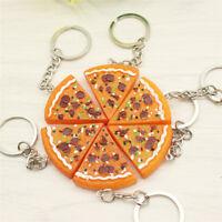 Pizza Pendant Key Chain Keyring Key Holder Purse Bag Charm Key Jewelry  HC