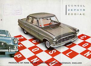 Ford Consul Zephyr Zodiac Mk2 Saloon 1959-61 Export Markets Sales Brochure FAIR
