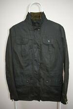 Women's Barbour Flyweight Utility Wax Cotton Green Jacket Size UK16 USA 12
