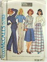 McCall's 5783 Unlined Jacket or Blouse, Skirt & Pants Sz 10 Sewing Pattern OOP