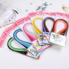 DIY 120 Stripes 6 Color Quilling Paper Origami PaperCraft Artwork 3x390mm