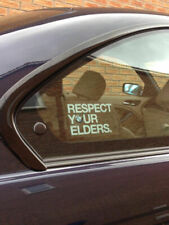 2x BMW Respect Your Elders Euro Style window sticker decal
