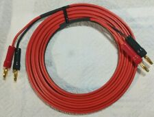 Speaker Cable 4mm Plugs Red/Black Gold Plated Banana 5M 10A rated New price each