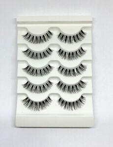 False Eyelashes Wispy 5 Pairs Strip Silk Extension Lashes