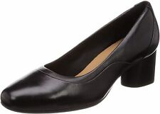 Clarks Ladies Pump Shoes UN COSMO STEP Black Leather UK 5.5 / 39
