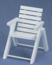 Dollhouse Miniatures 1:12 Scale Outdoor Chair, White #CLA10433