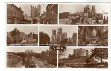 York - Multiview Real Photo Postcard c1940s