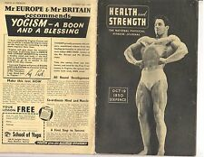 HEALTH AND STRENGTH bodybuilding muscle magazine/REG PARK 10-50