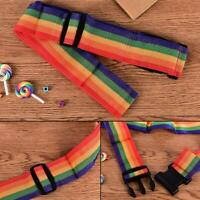 Reisegepäck Koffer Gurt Gepäck Rucksack Tasche Regenbogen Farbe Gürtel Adjus Top
