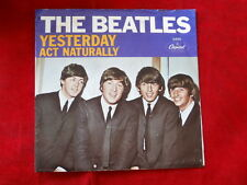BEATLES~ YESTERDAY~ ACT NATURALLY~ VG++~ SLEEVE ONLY NO RECORD~ CAPITOL ~ POP