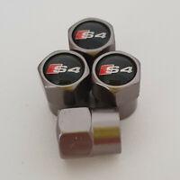 AUDI S4 Gun Metal Grey Wheel Valve Dust caps all models S LINE TT RS more colors