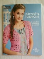 Leisure Arts Easygoing Fashions to Crochet 6 Sweaters and Vests Crochet Patterns