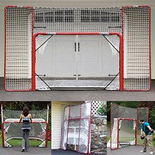 Hockey Training Goal With Backstop Steel Tube Official Regulation Size Net