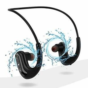 Waterproof Headphones for Swimming, IPX8 8GB in-Ear Wireless Earbuds Black