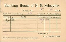 The Banking House of H.N. Schuyler, Pana IL 1896