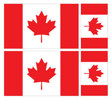 4 X CANADIAN CANADA FLAG VINYL CAR VAN IPAD LAPTOP STICKER