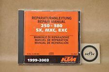 1999-2003 KTM 250 380 SX MXC EXC Shop Service Repair Manual CD 3.206.004
