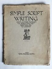 Simple Script Writing outline of scheme for teaching by G Hardwick 1920