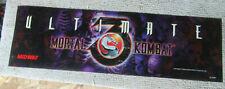 "original MORTAL KOMBAT 3 ULTIMATE  25-7.5"" sign marquee arcade video game cF89"
