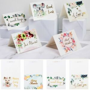 Wedding Business Baking Floral Gift Wish Thank You Card Greeting Cards Plain