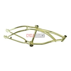"20"" Beach Cruiser Bike Bicycle Lowrider Chopper Frame GOLD"