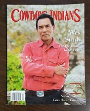 """Cowboys & Indians Magazine Aug/Sept 2015, Wes Studi """"On the Ranch in Santa Fe"""""""