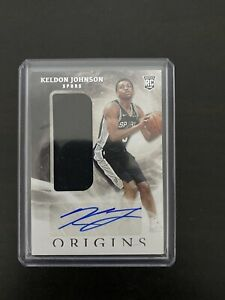 2019-20 KELDON JOHNSON Panini Origins Autograph Patch Rookie Card Spurs RC 🔥