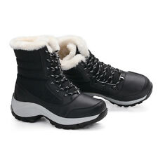 Women's Winter Snow Boots Mid-Calf Boots Warm Waterproof Lace Up Shoes Size 4-6