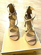 Michael Kors Chantelle Patent Beige Sandals Size 7 USED 2X  MINT COND   ORIG BOX