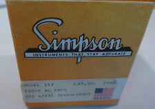Simpson Panel Meter Model 157 0-100 Amperes NOS