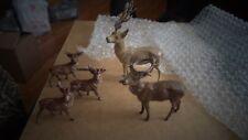 5 Lead German Putz Reindeer 3 Br 1/3/4' 'T 1 Br 2 2/8'' T 1 Tan 4 1/2'' T