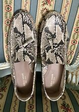 New Cole Haan Leather Snakeskin Beige Shoes Size 9