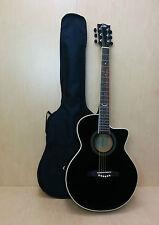 EKO NXT 018 CW EQ Straight Cutaway Electro-Acoustic Guitar, Black + Free gig bag