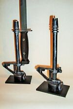 Support display stand for Colt M16 A1 bayonet with engraved plate