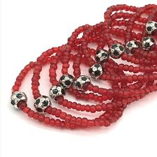 Wholesale Soccer Ball Beaded Stretch Bracelets Handmade in the USA Lot of 15 NEW