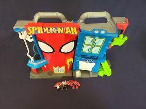 2011 Playskool Marvel Heroes SPIDER-MAN STUNT CITY Playset Sounds Lights Up
