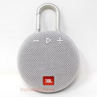 NEW JBL Clip 3 White Speaker Portable Wireless Bluetooth Waterproof Rechargeable