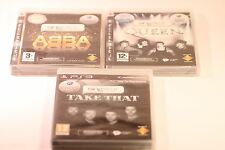 SingStar Queen ABBA Take That (Sony PlayStation 3, 2009) Job Lot de 3