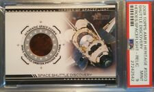 2009 Topps American Heritage Shuttle Discovery Space Flown NASA Relic PSA MINT 9