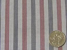 "Corona Grey Burgundy Navy Stripe Fine Quality Cotton Shirting Fabric 45"" BTY"