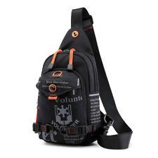 Men Nylon Rucksack Messenger Chest Bag Hiking Sports Sling Knapsack Backpack New