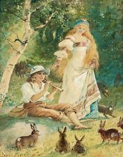 Nystrom Jenny The Kings Rabbits Print 11 x 14 #5359