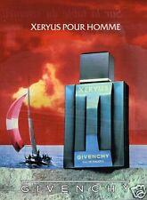 Publicité advertising 1988 Eau de Toilette Homme Xeryus de Givenchy