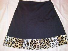 All That Jazz Black Skirt Faux Chetah Fur Border Girl's Medium 10 / 12 Boutique