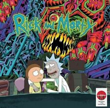 Rick and Morty Soundtrack Target Pink Green Vinyl 2 LP Die Cut Jacket