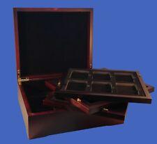 Display Box 24 Coin NGC/PCGS/Premier/Lil Bear Certified Wood  Mahogany Finish