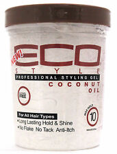 ECO STYLER COCONUT OIL PROFESSIONAL STYLING GEL MAXIMUM HOLD ALCOHOL-FREE 32 OZ.