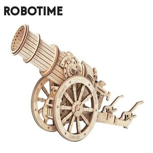 Robotime Wheeled Siege Artillery  Wooden Puzzle Game Assembly Toy Building Gift