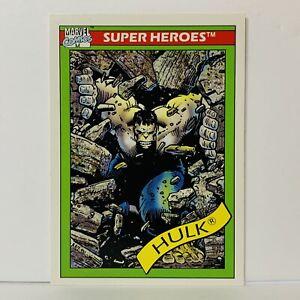 1990 Incredible Hulk Gray Card # 17 Impel Marvel Universe Series 1 Trading Card
